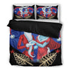 Jack Skellington & Sally Christmas Collection 3-Piece Bedding Set in Red