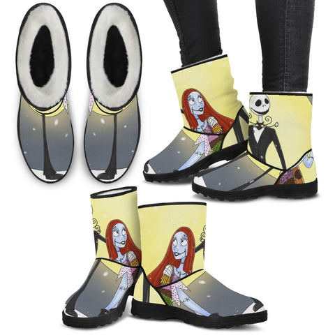 Jack & Sally in the Moonlight !! Faux Fur Boots !!