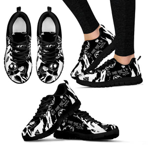 Jack Skellington & Sally Meant to Be Women's Lace Up Sneakers in Black