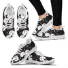 Nightmare Before Christmas Running Shoes - Jack Skellington & Sally Over the Moon Women's Lace Up Sneakers in Black