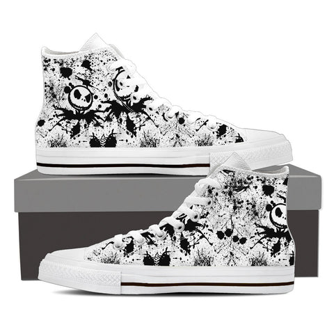 ''Beautiful creature '' high top shoes by Jack Skellington