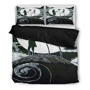 Jack Skellington & Sally Idol of Love 3-Piece Bedding Set in Black & White