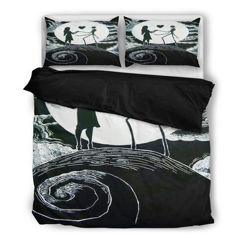 Twin Christmas Bedding Sets.Jack Skellington Sally Idol Of Love 3 Piece Bedding Set In Black White