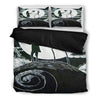 Queen Bed, King Bed, and Twin Bed - Nightmare Before Christmas Bedding Sets - Jack Skellington & Sally Idol of Love 3-Piece Bedding Set in Black & White