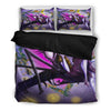 Queen Bed, King Bed, and Twin Bed - Nightmare Before Christmas Bedding Sets - Jack Skellington & Sally Magical Love Story 3-Piece Bedding Set in Purple