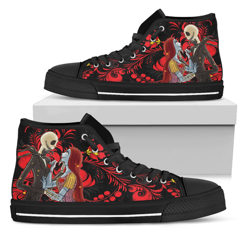 I'm In Love with You!! Jack & Sally  Women's High Top Shoes