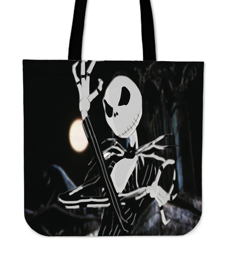 Jack Skellington in Tuxedo Women's Canvas Tote Bag in Black