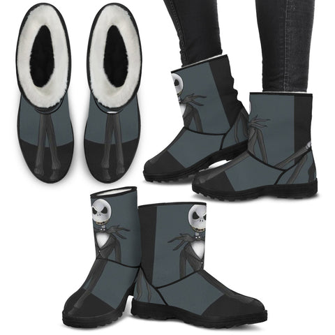 Jack Skellington Faux Fur Boots !! Always Comfortable.