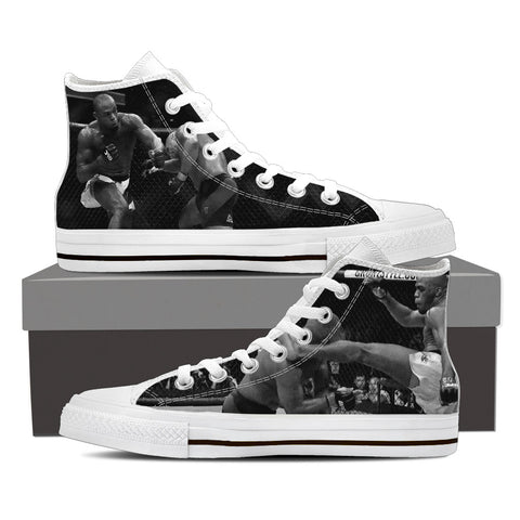 Exclusive Mens High Top Shoes Of The Big Fight - My Gift Of Today