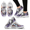 Jack Skellington & Sally Love Women's Lace Up Sneakers in Purple