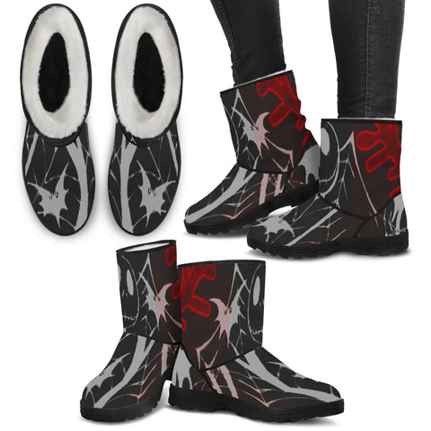 I'm In Love with You Jack Skellington Faux Fur Boots