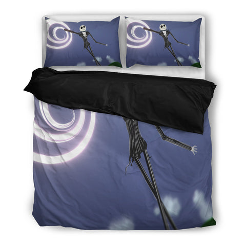 Jack Skellington Pumpkin King Dreams Bedding Set in Blue