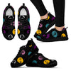 Jack Skellington Color Stripes Women's Lace Up Sneakers in Black