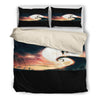 Queen Bed, King Bed, and Twin Bed - Nightmare Before Christmas Bedding Sets - Jack Skellington & Sally Sunset Romance 3-Piece Bedding Set in Black
