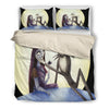 Queen Bed, King Bed, and Twin Bed - Nightmare Before Christmas Bedding Sets - Jack Skellington's Midnight Kiss 3-Piece Bedding Set in Black