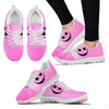 Jack Skellington Fierce Face  Women's Lace Up Sneakers in Pink