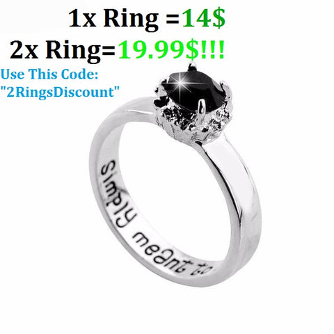 "Special Rings""Simply Meant to Be"" (engraving) High Quality"