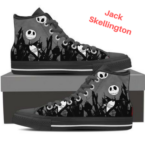 ''Dark Surprise'' Jack Skellington High Top Shoes