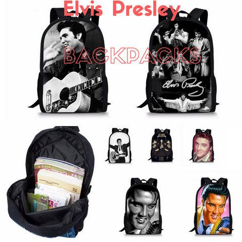 Elvis Presley Rare Backpacks Special Designs - My Gift Of Today
