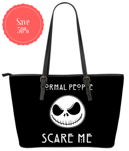 "Jack Skellington""Normal People Scare Me"" Large Tote Bag"