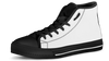 Jack Skellington Loves Skull High Top Canvas Sneakers in Black