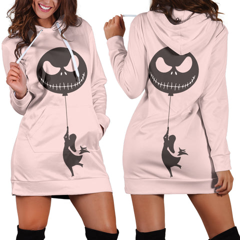 Jack Skellington Pink Sally Women's Hoodie Dress