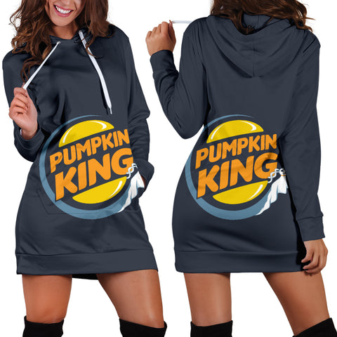 Jack Skellington Pumpkin King Women's Hoodie Dress in Dark Blue