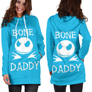 Jack Skellington Bony Daddy Women's Hoodie Dress in Blue