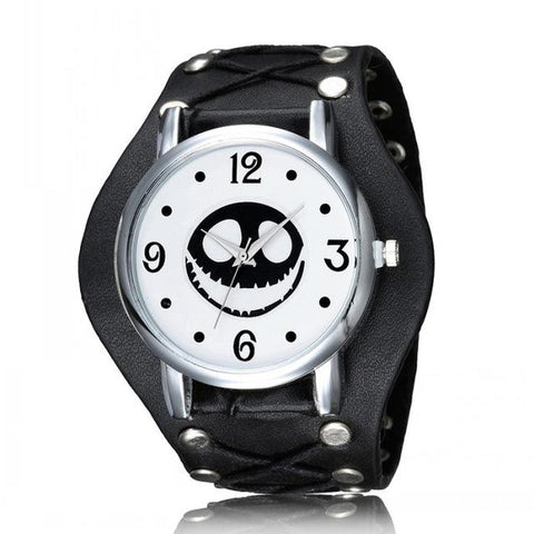 Jack Skellington Punk Style Analog Quartz Wristwatch in Black