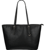 Jack Skellington & Sally Midnight Women's Leather Tote Bag in Black