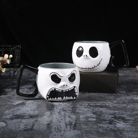 Jack Skellington Dual Faced Large Capacity Ceramic Coffee Mug