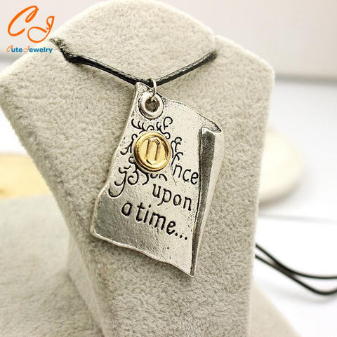 Once Upon A Time Henry Story Book Page Necklace