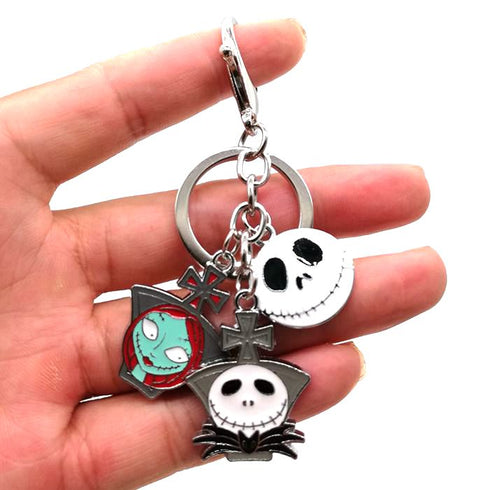 Nightmare Before Christmas 3-Pendant Key Chain Accessory