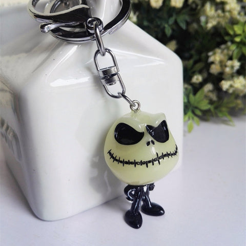 Jack Skellington Nightmare Before Christmas Glow in the Dark Keychain