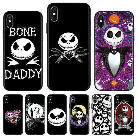 Jack Skellington Nightmare Before Christmas iPhone Apple Device Protective TPU Casing - 2
