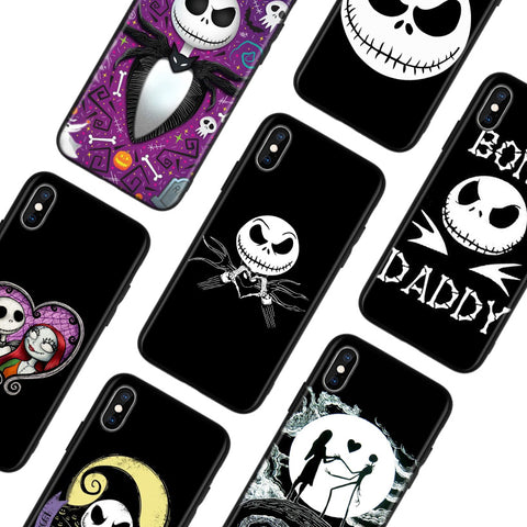 Jack Skellington Nightmare Before Christmas iPhone Apple Device Protective TPU Casing