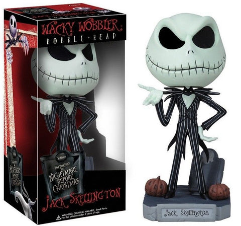 Jack Skellington in a Tuxedo Wacky Wobbler Bobble Head PVC Action Figure Collectible Toy