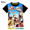 3-9ages Jurassic World Dinosaur Children T shirt