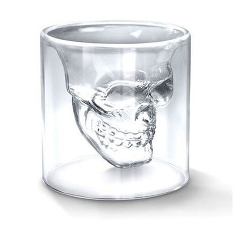 EVEROCA Skull Shaped Double Wall Transparent Shot Glass