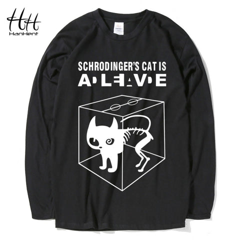 Schrodinger's Cat Man's Long Cotton T-shirt