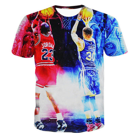 Stephen Curry Graphic Printed 3D T Shirt