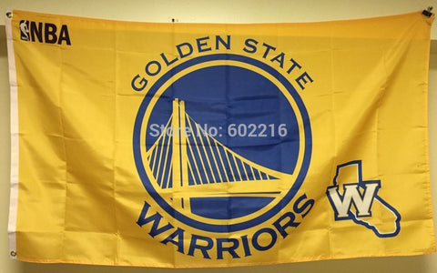 Golden State Warriors Yellow Banner Flag 3FTX 5FT
