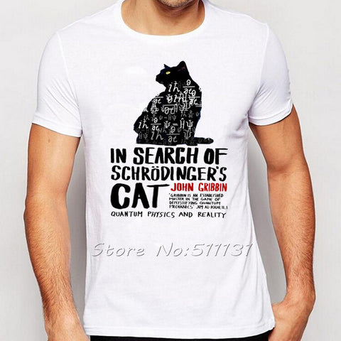 Funny Schrodinger's Cat T-shirt Science Geek Tshirts