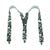 Skull Skeleton Design Elastic Y-Shaped Suspenders in Black and White
