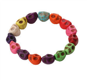 Colored Skull Elastic Bracelet