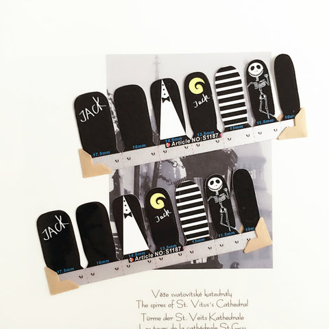 Nightmare Before Christmas Jack Skellington Nail Art Stickers & Decals