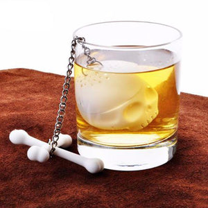 Skull Silicon Loose Leaf Tea Infuser Silicon Strainer