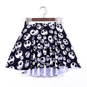 Jack Skellington  Sexy Pleated Elastic Waist Skirt