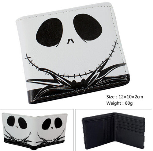 Nightmare Before Christmas Jack Skellington Bi-Fold PU Wallet in White