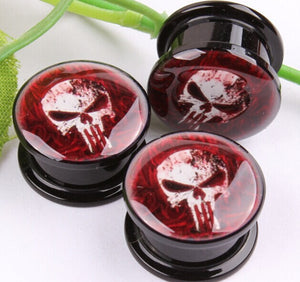parties and more! Skull Ear Gauge Plugs & Tunnel Expander Body Piercing Jewelry